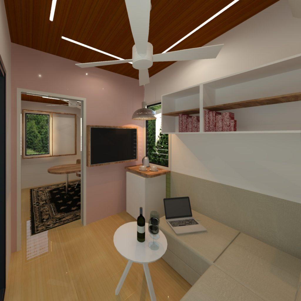 Tiny Office on Wheels - Tandem interior